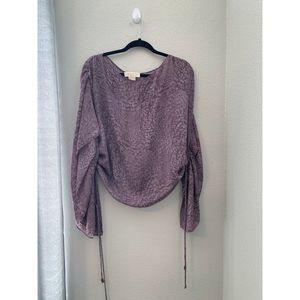 Michael Kors Purple Wide Sleeve Top